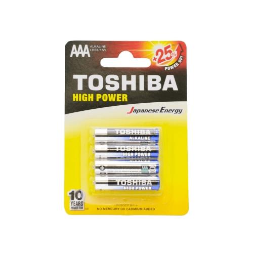 Μπαταρίες AAA Toshiba 4 τεμ. LR03GCP BP-4