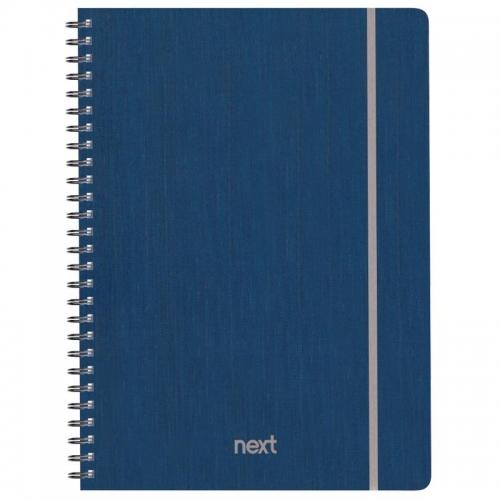 Next fabric τετρ. σπιράλ λαστ. μπλε 17x25εκ. 140φ. 4θ