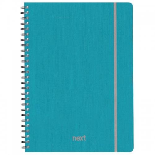 Next fabric τετρ. σπιράλ λαστ. γαλάζιο 17x25εκ. 140φ. 4θ