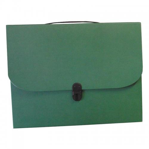 Next τσάντα συνεδρίων με κούμπωμα classic πράσινη Υ36χ28χ4εκ.