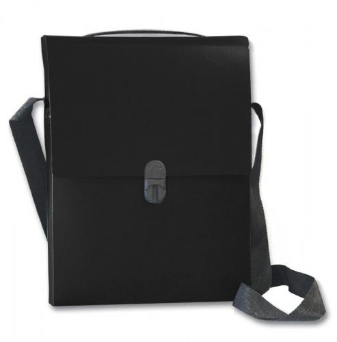 Next τσάντα συνεδρίων με ιμάντα PP μαύρη Υ32x24x5εκ.