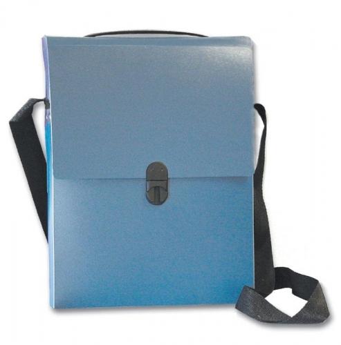 Next τσάντα συνεδρίων με ιμάντα PP μπλε διάφανη Υ32x24x5εκ.