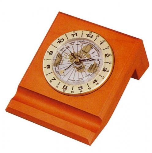 Bestar ρολόι με παγκόσμια ώρα ανοιχτή κερασιά Υ7x12x12.8εκ.
