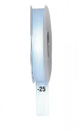 Κορδέλα ριγέ γαλάζια15mm x 20μ.