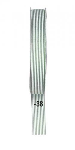 Κορδέλα ριγέ αν. πράσινο 15mm x 20μ.