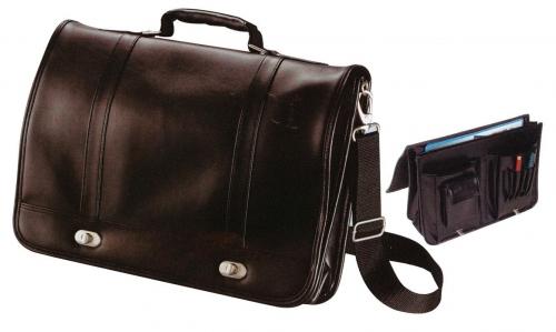 Τσάντα επαγγελματική δερματίνη μαύρη 40x30x8εκ.