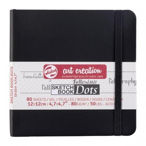 Talens Sketch book Dot μαύρο 80φυλ. 12x12εκ. 80 γρ.