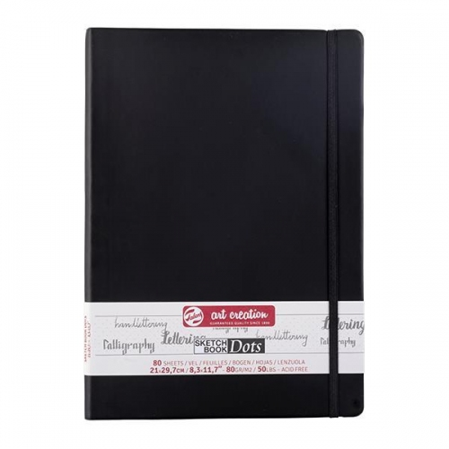 Talens Sketch book Dot μαύρο 80φυλ. 21x30εκ. 80 γρ.