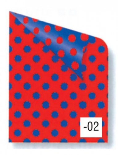 Rainbow χαρτόνι πουά κόκκινο-μπλε 2 όψεων 50x70εκ.