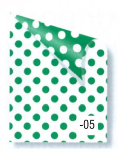 Rainbow χαρτόνι πουά λευκό-πράσινο 2 όψεων 50x70εκ.