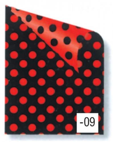 Rainbow χαρτόνι πουά κόκκινο-μαύρο 2 όψεων 50x70εκ.