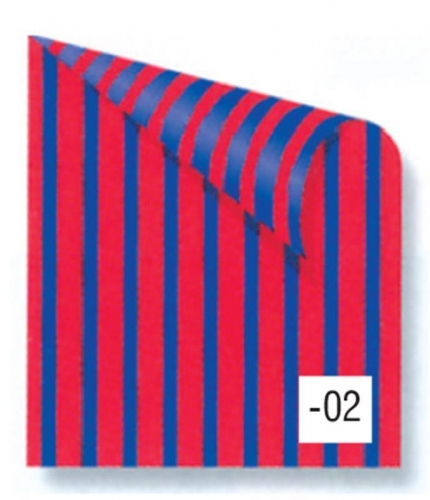 Rainbow χαρτόνι ριγέ μπλε-κόκκινο 2 όψεων 50x70εκ.