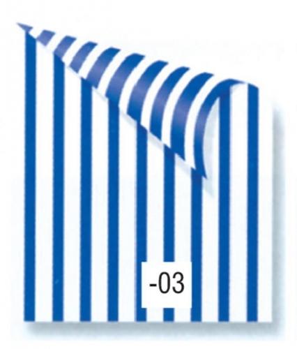 Rainbow χαρτόνι ριγέ μπλε-λευκό 2 όψεων 50x70εκ.