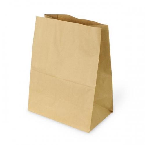 Next χάρτινη τσάντα Υ38x35x21εκ. καφέ χωρίς χερούλι