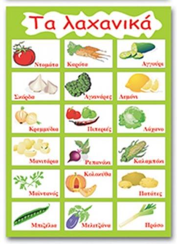 """Next εκπαιδευτική αφίσα """"Τα λαχανικά"""" 50x70εκ."""