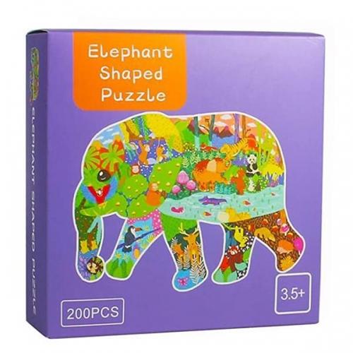 """Παζλ """"Ελέφαντας"""" με κοπτικο, 47x33εκ., 200 τεμαχίων"""