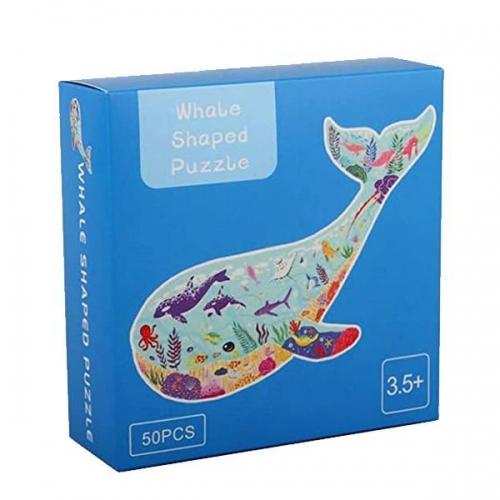 """Παζλ """"Φάλαινα"""" με κοπτικο, 49x36εκ., 50 τεμαχίων"""