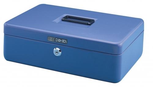 Χρηματοκιβώτιο μεταλλικό μπλε Υ7.5x30,5x23εκ.