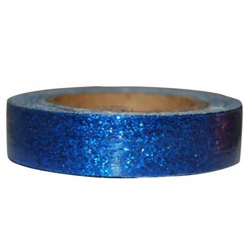 Αυτοκόλλητη ταινία glitter 1,5εκ., 2μέτρα μπλε