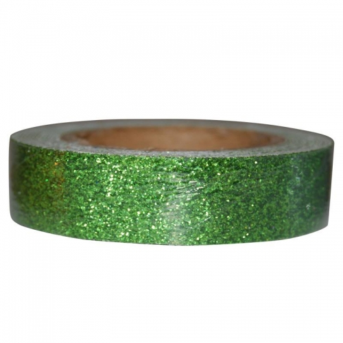 Αυτοκόλλητη ταινία glitter 1,5εκ., 2μέτρα πράσινο