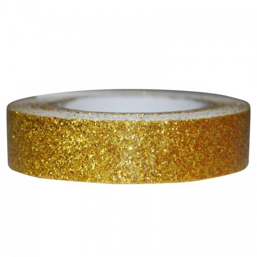 Αυτοκόλλητη ταινία glitter 1,5εκ., 2μέτρα χρυσή