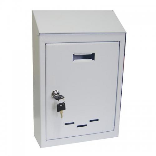 Γραμματοκιβώτιο με κλειδί λευκό Υ38x26,5x9εκ.