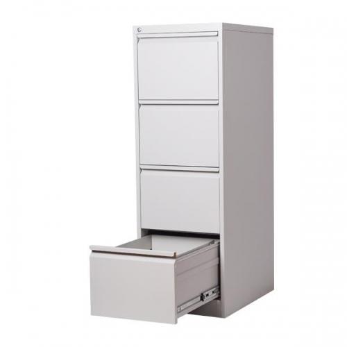 Nextdeco συρταριέρα κρεμαστών φακέλων γκρι με κλειδαριά, 4 συρτ. Υ133,1x46x62εκ.