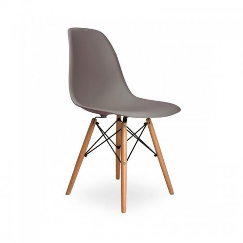 Oslo καρέκλα πλαστική γκρι με 4 πόδια