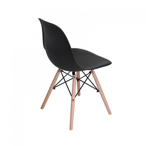 Oslo καρέκλα πλαστική μαύρη με 4 πόδια